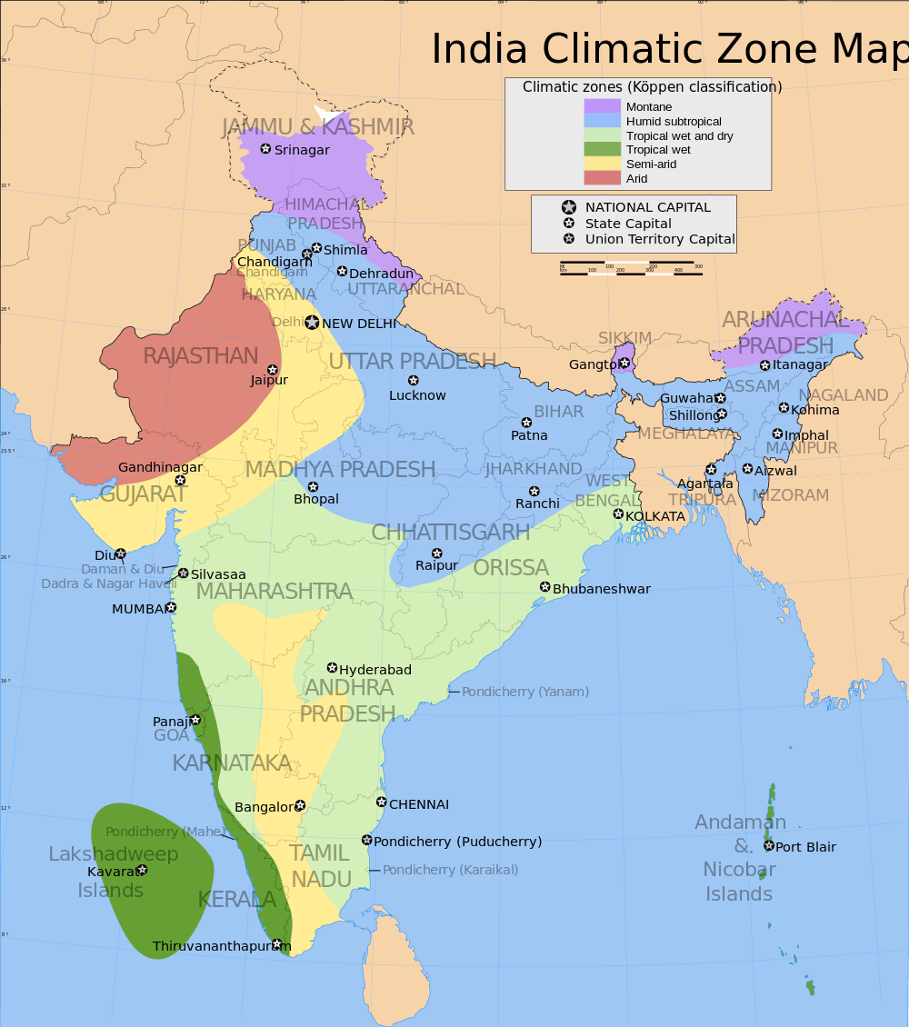 14 important maps of india physical and political map best of india climate zone map of india gumiabroncs Gallery