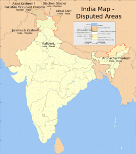 Indian Disputed Map