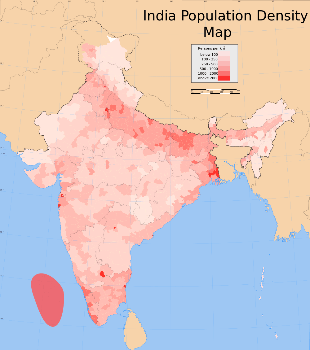 population distribution of india There are different approaches to measuring population density the ghsl population layer particularly in countries with extensive rural populations like india.