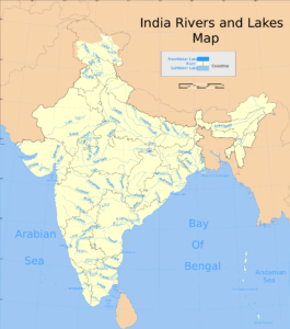 Indian Rivers and Lakes Map