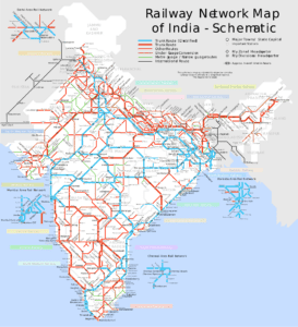 Road Map of India