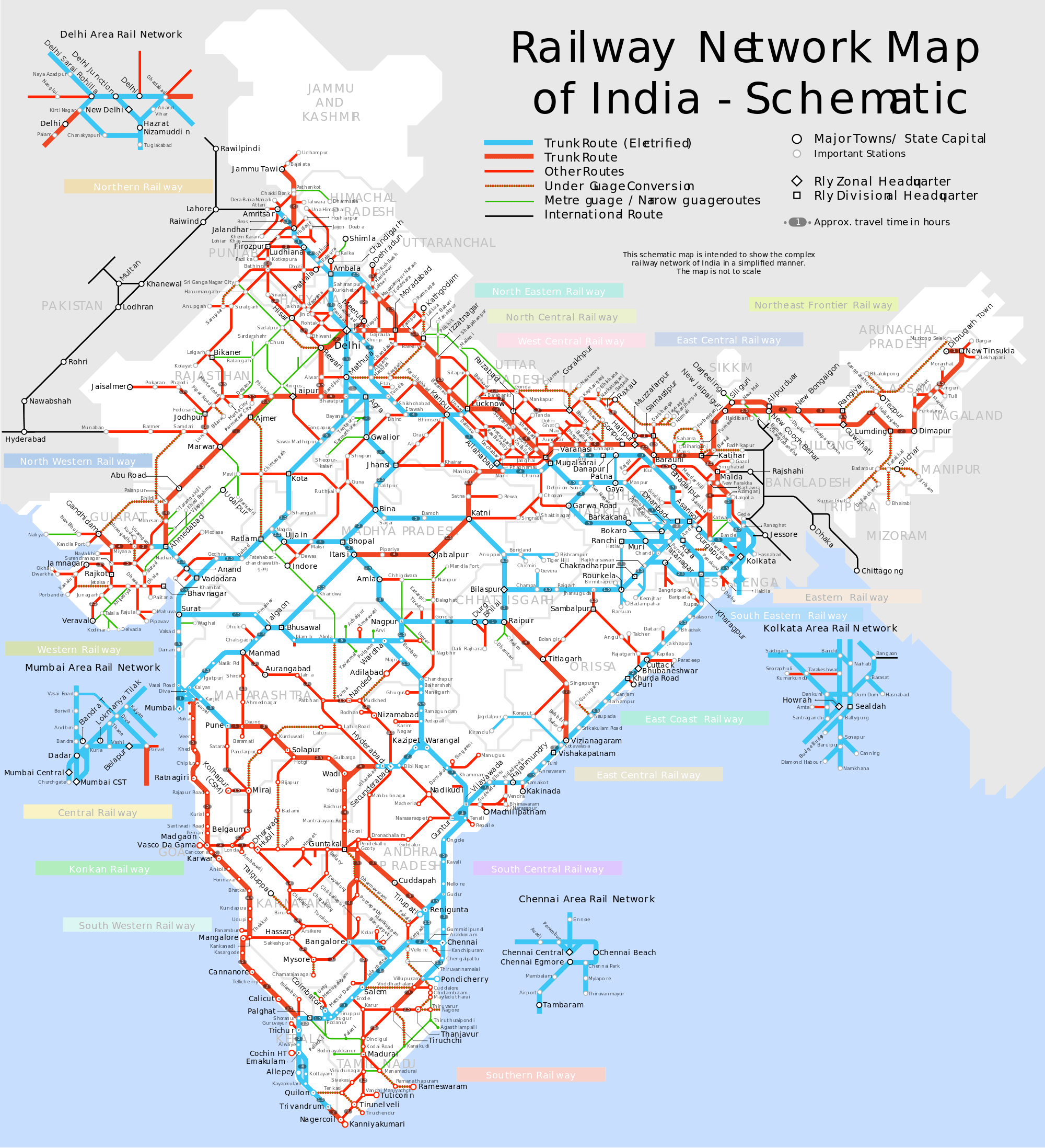Indian Road Map Best Of India