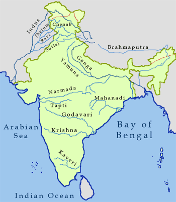River Map of India