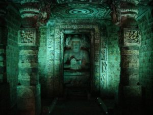 Ajanta_caves_Image from_inside_the cave
