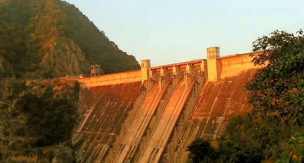 The Bhakra Nangal Dam in Punjab