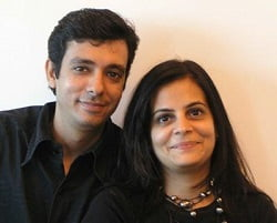 Sanjeev Panjabi and Sangeeta Merchant