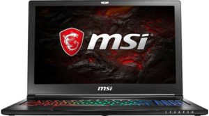 MSI GS63 7RDX- Thinnest gaming laptop