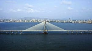 The newly built Bandra Worli Sea Link