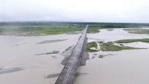 Beatiful View of Dibang River Bridge
