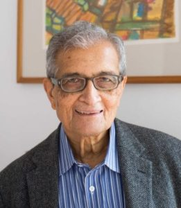 AmartyaSen after giving lecture