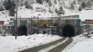 Jawahar tunnel is 2 tube lane tunnel