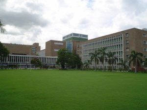 central lawn at AIIMS