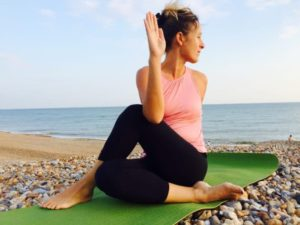 Ardha Matsyendrasana is another classical yoga asana.