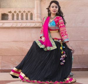 Ghagra Choli is usually worn by the people from Gujarat and Rajasthan.