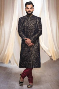 Sherwani is basically a coat like attire worn by men of North Indian region on formal occasions.