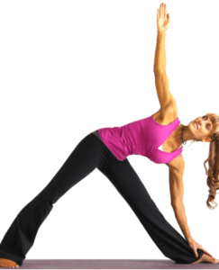 Trikonasana helps to make the body stable and activates the balancing of the root chakra, Muladhara.